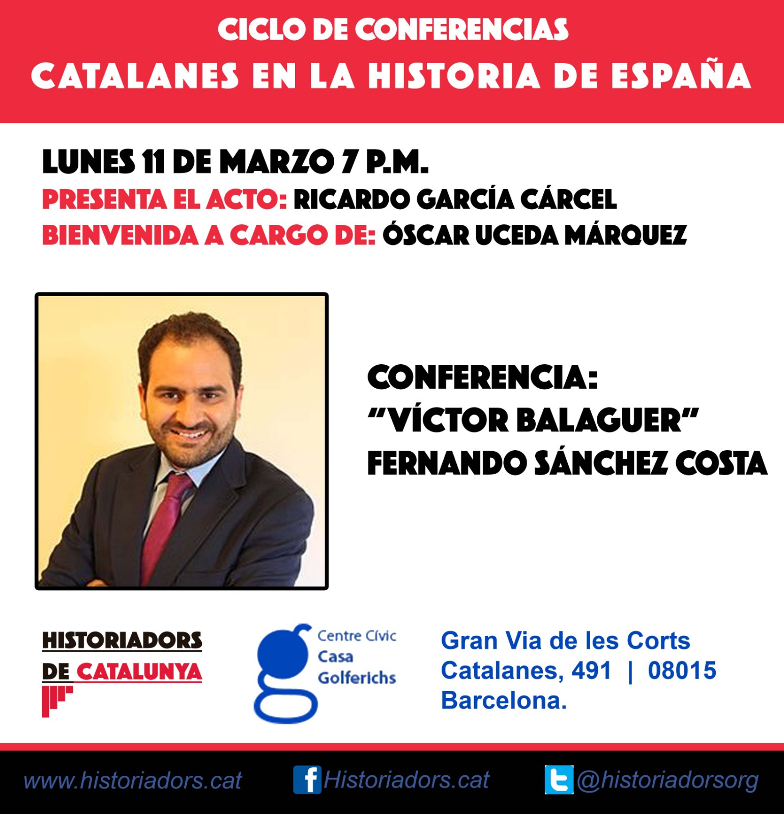 "Conferencia ""Víctor Balaguer"" por Fernando Sánchez-Costa"