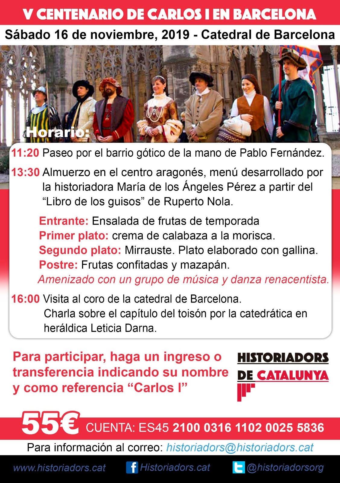V Centenari de Carles I a Barcelona